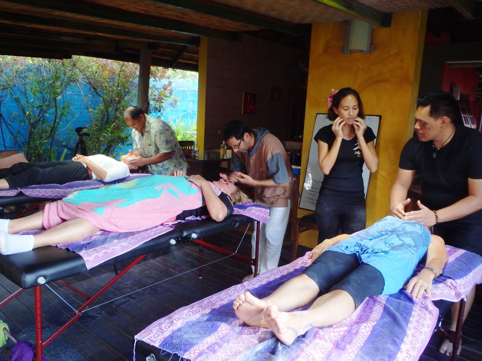 Atelier massage du visage et du crâne