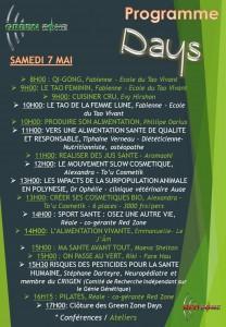 Green zone days Samedi 7 mai